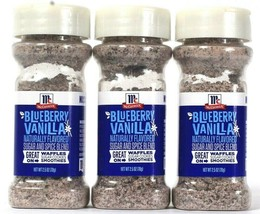 3 Count McCormick 2.5 Oz Blueberry Vanilla Sugar And Spice Blend BB 6/27... - $13.99