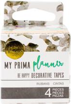 My Prima Planner Decorative Tape 4/Pkg-Be Happy - $5.24