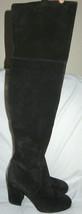 Via Spiga Beline Suede Leather Black Over Knee Boots Size 5 M NEW $595 - $69.30