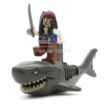 Lego Pirates of the Caribbean Grey Zombie Shark With Jack Minifigure - $9.99