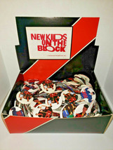 Vintage New Kids On The Block 144 Pins Pinback Button Store Display NewO... - $49.99
