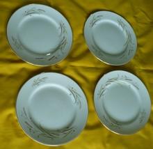 Golden Harvest Wheat Bread/Dessert Plates Gold Rim Fine China of Japan L... - $9.89