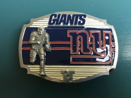 NEW YORK GIANTS Logo BELT BUCKLE NFL PEWTER NEW Football Fan Gear - $9.89