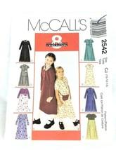 Vintage Sewing Pattern Kids Child 1990s Size 10 12 14 Dress Belt Bag Unc... - $6.97