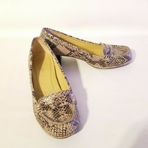 Easy Spirit Esmaeli Snake Print Leather Block Heeled Shoes Size 5.5 - $23.98