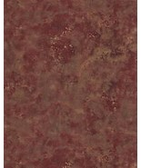 Burnt Red Metallic Faux Wallpaper FT23535 Patton Norwall Wallcovering Vinyl - $32.99