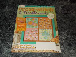 Cross Stitch & Needlework Magazine May 2014  floral tote bag - $2.96