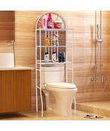 Bathroom Towel Storage Toilet Rack With 3 Shelves Bath Furniture Organis... - $50.99