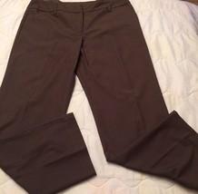 AGB Wms Sz 12 Brown Button Zipper Closure Wide Waistband Career Dress In... - $15.88