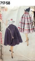VTG Sewing Pattern Simplicity #3841 UNUSED Full  Skirt/ Cummberbund 1953 - $20.88