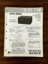 Sony TC-717 TC-717M Cassette Service Manual *Original* - $37.23