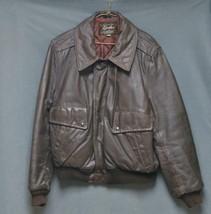 Vintage GRAIS Brown Flight Bomber Jacket USA MADE Quilt Lined Men's Size 44 - $161.99