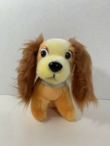 Walt Disney vintage LADY and the Tramp plush puppy dog stuffed animal toy - $4.94