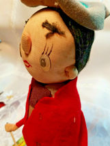 "Vintage Stockinette Doll Christmas Drummer Made in Japan by Noel 10"" image 5"
