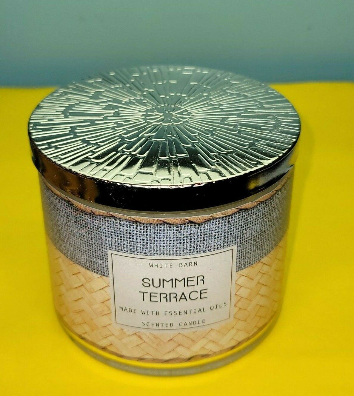 Primary image for Bath & Body Works White Barn Summer Terrace Jar Essential Oil Candle 14.5