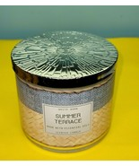 Bath & Body Works White Barn Summer Terrace Jar Essential Oil Candle 14.5 - $34.64
