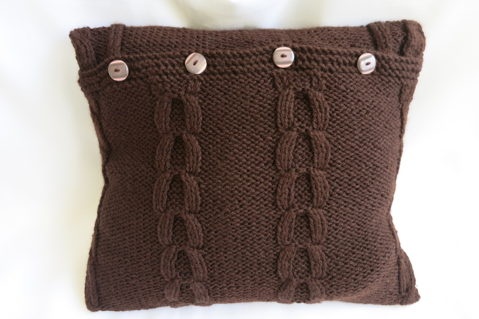 Handmade knitted decorative cushion cover - home decoration - 40 x 40 cm