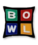 BOWL Neon Bowling Sign, Throw Pillow, seat cushion, fine art, home decor... - $41.99 - $69.99