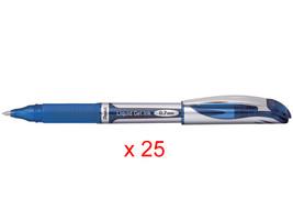 Pentel BL57 EnerGel 0.7mm Refillable Metal Tip Liquid Gel Pen (25pcs) - Blue / B - $48.99