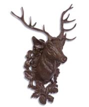 Cast Iron Deer Head Wall decor, for hunter, garden decor, decor home * Free Air - $239.00