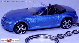 RARE KEY CHAIN RING BLUE BMW Z3 CONVERTIBLE ROADSTER Z 3 CUSTOM LTD EDIT... - $28.98