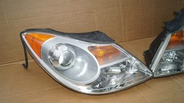07-12 Hyundai Veracruz Halogen Headlight Head Lights Matching Set LH&RH POLISHED image 2