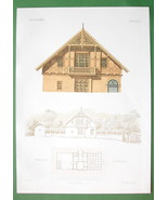 ARCHITECTURE COLOR PRINT : Germany Summer House at Muhlhausen - $14.85