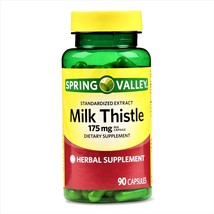 Spring Valley Milk Thistle Extract Herbal Supplement 175 mg 90 Capsules - $15.00