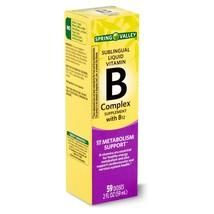 Spring Valley Sublingual Liquid Vitamin B Complex with B12, - $5.36