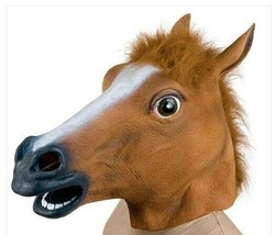 Raccapricciante Cavallo Uomo Purga Halloween Maschera Gomma Burla Costum... - $23.24