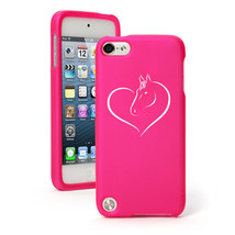 For Apple iPod Touch 4th 5th 6th Rubber Hard Case Cover Heart Horse - $12.99