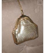 Vintage 1930's WHITING & DAVIS Gold Metal Mesh Flapper Purse - $54.40