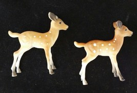 Vintage Reindeer Hard Plastic Deer Lot of 2 Hong Kong - $16.99