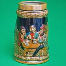 Vintage Ceramic Beer Stein, Made In Japan, Tavern Scene - $3.95