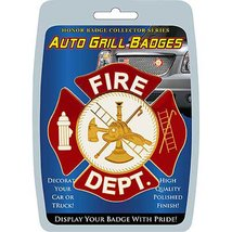 Fire Department auto grill badge - $10.84