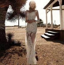 New 2 In 1 Long Sleeve Illusion With Detachable Train Fashion European Mermaid W image 2