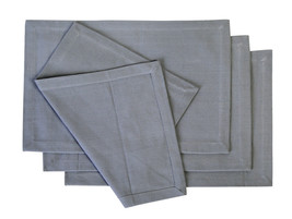 Cotton Placemats Cool Grey 4/pack - $18.55