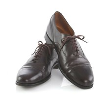 Cole Haan Benchmade in England Brown Leather Cap Toe Oxfords Shoes Mens 10 C - $49.41