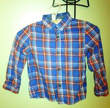 Boys/Toddler Set GAP Relaxed LT Blue Adj. Pants & Cat Jack L/S Button Shirt Blue image 6