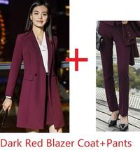 Women's Fashion Career Apparel High Quality 3 Piece Formal Business Pant Suits image 5