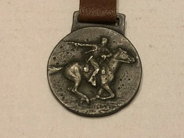 Vintage Watch Fob with Leather Strap - Winchester - $30.00