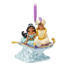 Disney Aladdin and Jasmine Singing Living Magic Sketchbook Ornament - $28.41