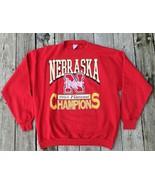 VTG 1994 Nebraska Cornhuskers National Champs Sweatshirt 2XL Red - $18.81