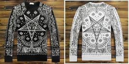 Men's Fashion T shirt Graphic Design Crewneck Long Sleeve Hip Hop hipsters S / M