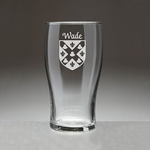 Wade Irish Coat of Arms Tavern Glasses - Set of 4 (Sand Etched) - $56.79
