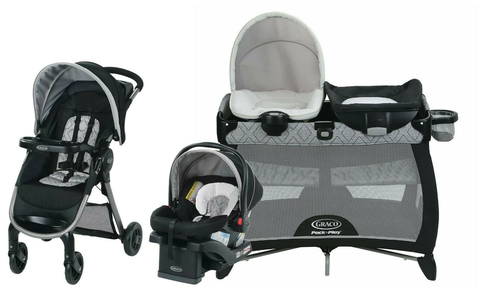 Graco Baby Stroller With Car Seat Infant Playard Travel System