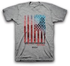 Grey God Shed His Grace On Thee Patriotic Chris... - $19.82