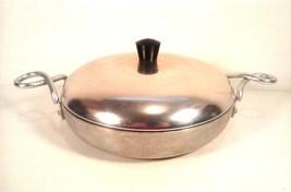 VINTAGE WEAR EVER HALLITE 2109 PAN 1959 Aluminum w/ Copper Lid TWISTED H... - $9.85