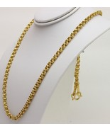 22K 22kt  PURE GOLD 2 baht double rolo chain / necklace handmade #AG - $1,979.01