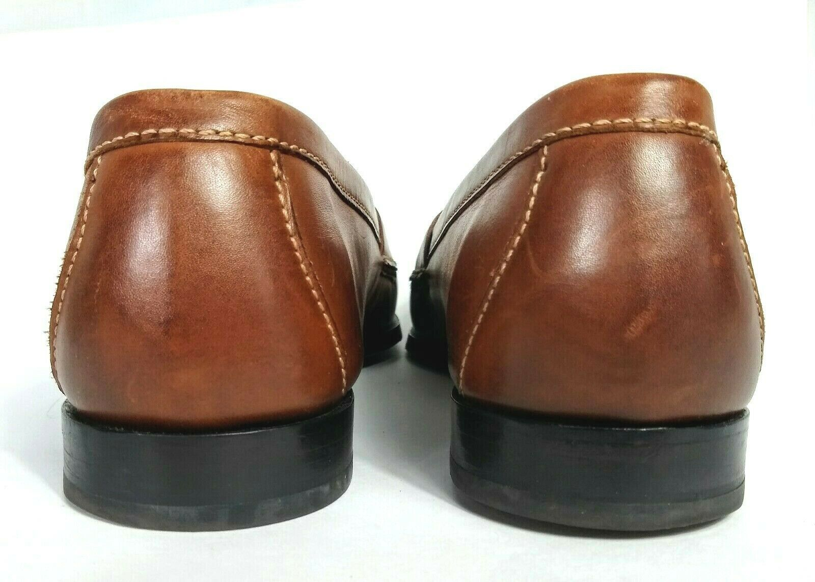 Cole Haan Men's Brown Leather Slip On Dress Pinch Tassel Loafer Sze 12 Air Sole  image 5